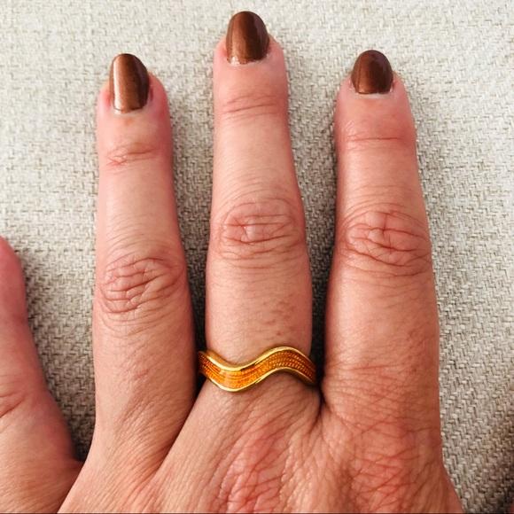 kate spade Jewelry - Kate Spade Mariachi RicRac Ring Size 8